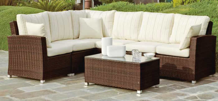 Arizona 8 Rattan Corner Sofa Set Offer
